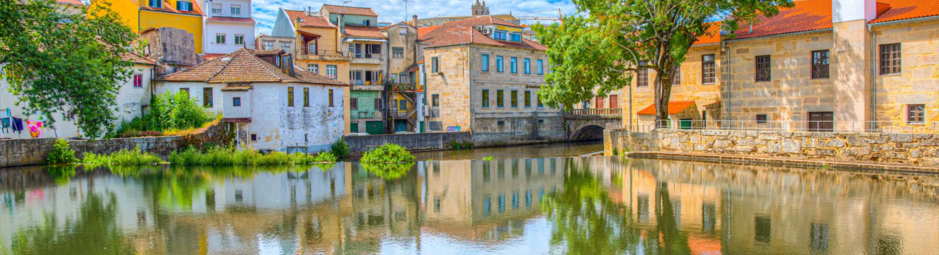 Vieille ville de Viseu au Portugal