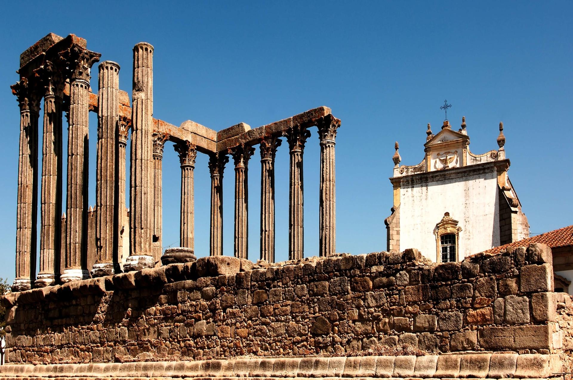 Temple de Diane à Evora, Portugal