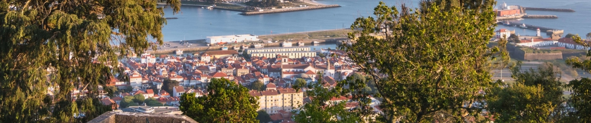 Vue aérienne de Viana do Castelo